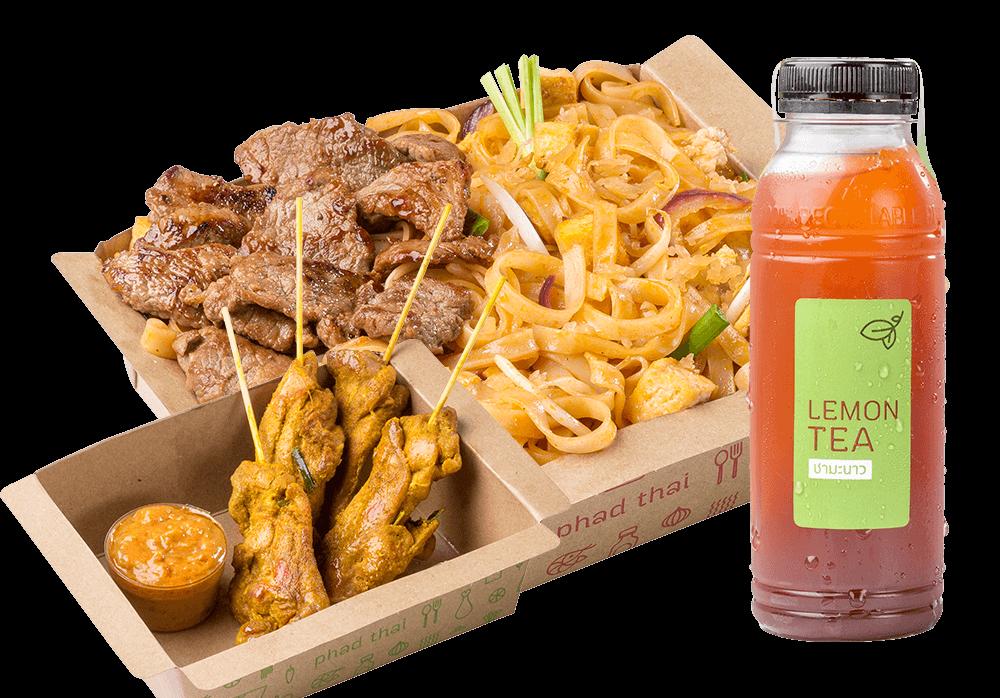 Big Meal 2 : Pad Thai Beef + Snacks + Drinks