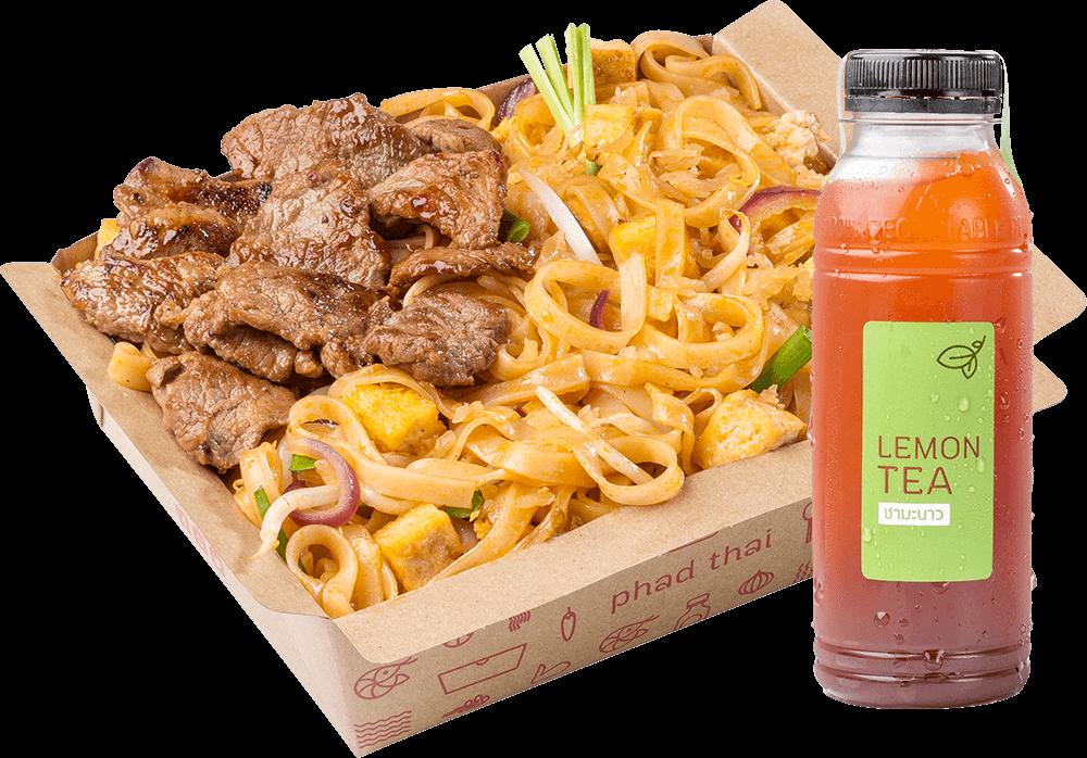 Combo B: Pad Thai Beef + Drink