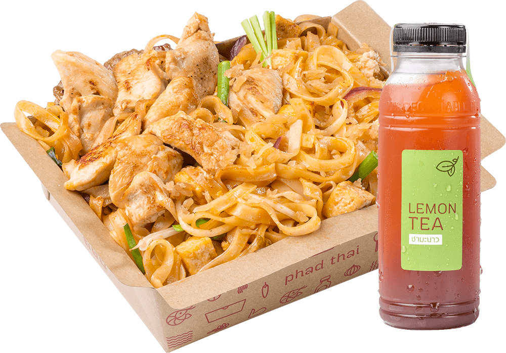 Combo A: Pad Thai Chicken + Drink