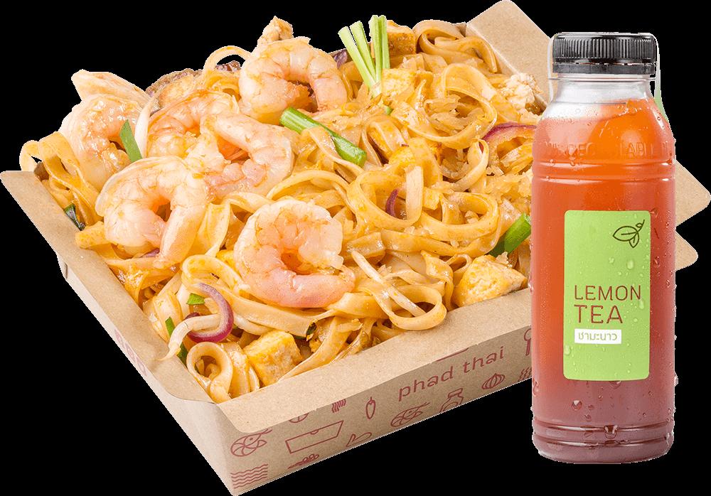 Combo C: Pad Thai Shrimp + Drink