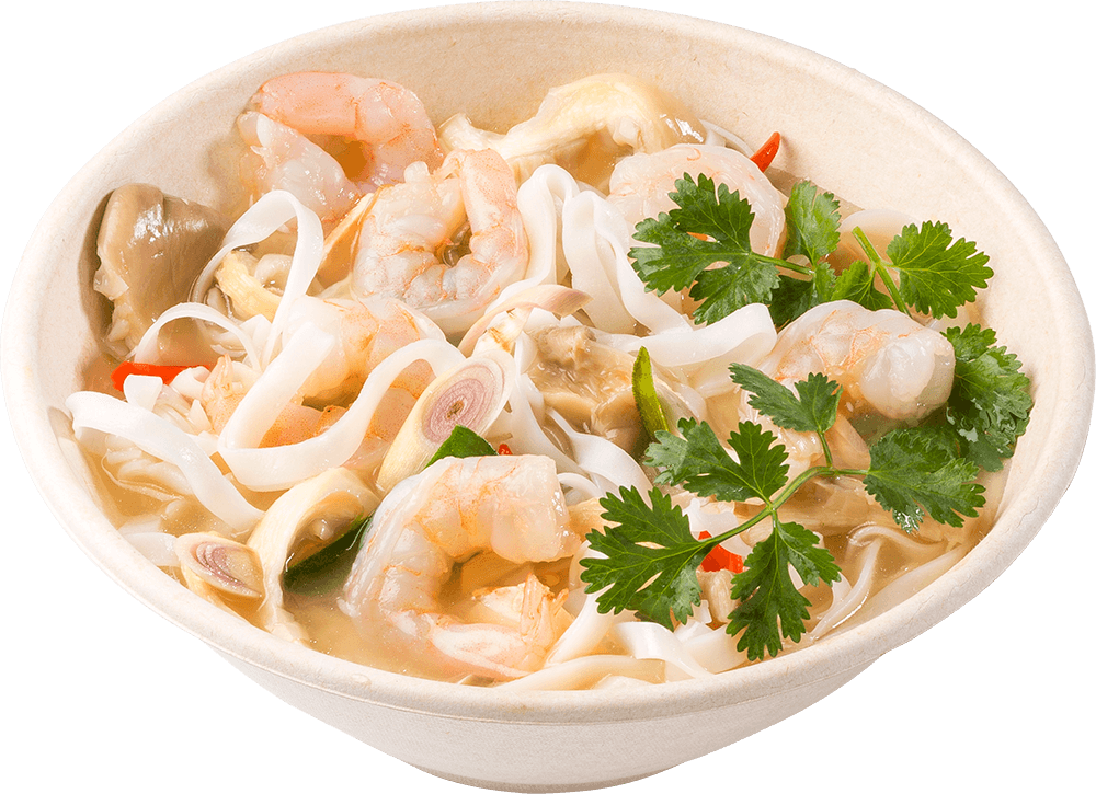 Tom Yum Noodle Soup with Shrimp