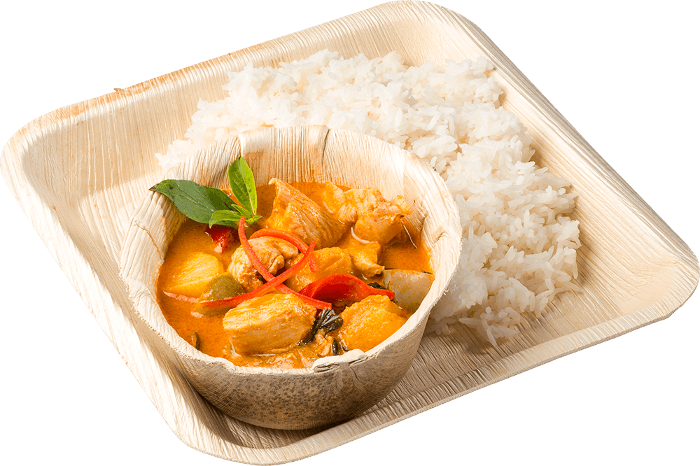 Red Chicken Currry with Rice