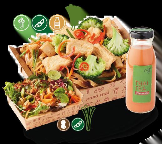 Big Meal 4 : Pad Thai Vegetarian + Snacks + Drinks