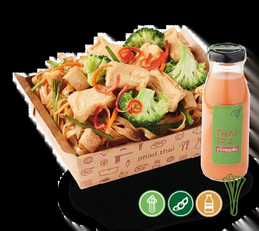 Combo D: Pad Thai Vegetarian + Drink