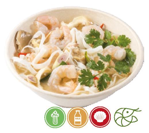 Tom Yum Noodle Soup with Shrimp
